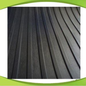 Black Non-Slip SBR Rubber Sheet with Wide Ribbed Pattern pictures & photos