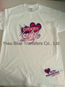 Custom Transfer Printed T-Shirts in 3D Flocks pictures & photos