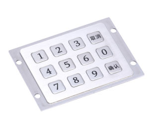 3X4 Matrix 12 Keys Metal Industrial Keypad