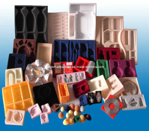 PS Flocking Blister Packing Tray with OEM Design (KSM-0007)