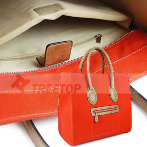 Funtional Canvas and Leather Lady Handbag With a Smile Face (LAPUHAAP84)