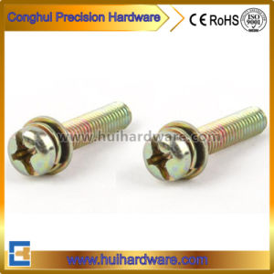 Galvanized Cross Recessed Pan Head Machine Sems Screws pictures & photos