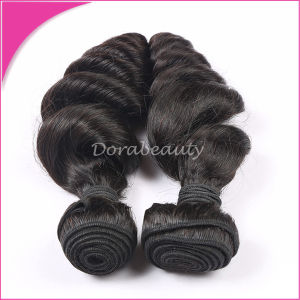 Natural Black High Quality Human Hair Brazilian Virgin Hair pictures & photos