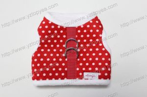 Red Dots Plush Soft Dog Harness ,Vest Jacket (YD307-1) pictures & photos