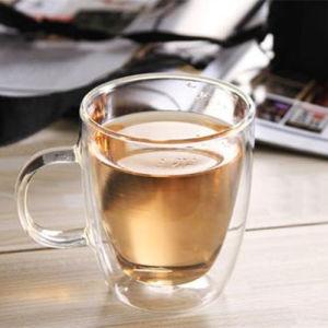 350ml Handamde Borosilicate Double Wall Glass Mug pictures & photos