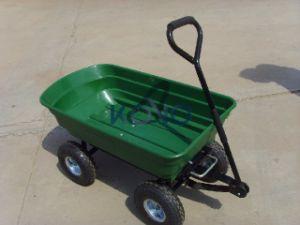 Hot Models Four Wheels Plastic Garden Wheelbarrow pictures & photos