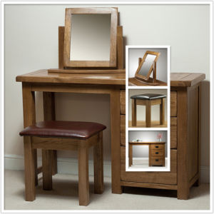 Solid Wood Oak Dressing Table with Drawer (HSRU0013, 0014, 0015)