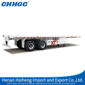 2 Axle Flatbed Semi Trailer pictures & photos