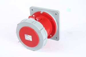 Cee/IEC IP67 32A 4p Red Panel Straight Socket pictures & photos