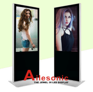 65-Inch LCD Advertising Player Floor Standing with Right Angle, Digital Signage pictures & photos