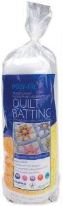 White Quilt Batting, Crib Size, 45-Inch by 60-Inch, 1 Batting