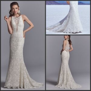 Cap Sleeves Wedding Dress Mermaid Lace Bridal Wedding Gown Wd157 pictures & photos