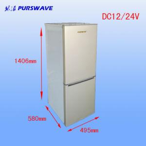 Purswave Bcd-178 178L DC12V24V48vsolar Fridge Vehicle Refrigerator Double Door Freezer and Cooler Compressor Refrigerating for Car Motor Bus Auto pictures & photos