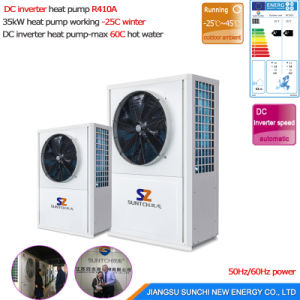 Extramely -25c Winter Heating Room High Cop4.65 220V/10kw Evi Tech. Geothermal Glycol/ Brine Water Small Ground Source Heat Pump pictures & photos