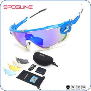 Fashion Black Frame Mirrored Sports Sunglasses Ppolarized pictures & photos