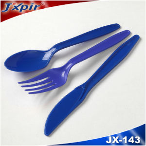 Red Plastic Cutlery Restaurant Cutlery Set pictures & photos