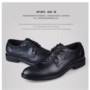 Genuine Leather Fashion Man Pointed Toe Dress Leather Shoes pictures & photos