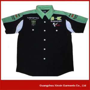 Custom Design Black Short Sleeve Racing Shirt Manufacturer (S40) pictures & photos