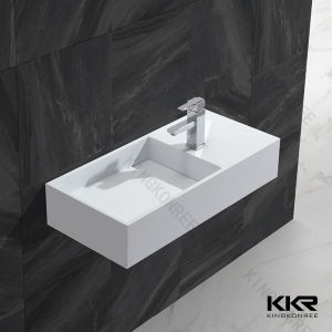 Modern White Stone Marble Bathroom Wash Basin for Hotel pictures & photos