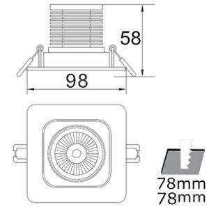 Recessed Ceiling COB LED Interior Home Lighting 10W Square Downlight AC85-265V pictures & photos