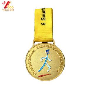 Customed Gold Color Sided with Lanyard Coin Sport Medallion/Medal (YB-HR-49) pictures & photos