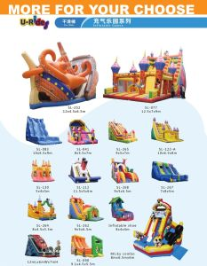 High quality commercial inflatable bouncer slide water slide with pool for children and adult pictures & photos