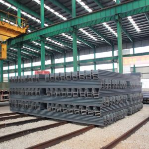 Hot Rolled Steel Sheet Piling From Steel Pile Manufacturer Sy295 Sy390 pictures & photos