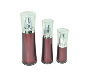 Luxury Cosmetic Round Empty Acrylic Lotion Bottle pictures & photos