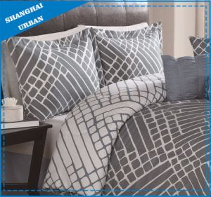 European Gray Pattern Printed Cotton Duvet Cover pictures & photos