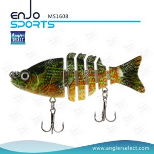 Multi Jointed Fishing Life-Like Minnow Lure Bass Bait Swimbait Shallow Artificial Fishing Tackle Fishing Bait (MS1608) pictures & photos