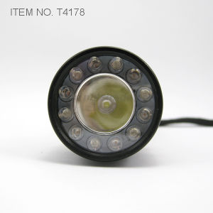 Multi Function Tri-Color 1 Watt and 12 LED Flashlight (T4178) pictures & photos