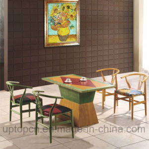 Wooden Restaurant Furniture Set with Colorful Y Chair and Rectangle Table (SP-CT689) pictures & photos