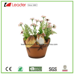 High Quality Resin Garden Planter with Beetle Figurines for Home and Outdoor Decoration pictures & photos