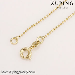 43503 Hot Sales Fashion Gold Plated Alloy 1mm Bead Chain Necklace pictures & photos