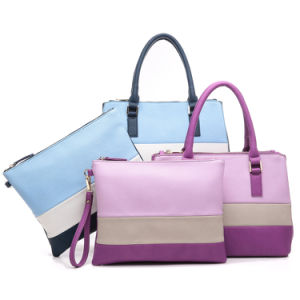 Designer Brand Contrast Color Fashion Tote Bag (MBNO042107) pictures & photos