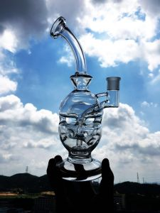 10 Inch Lattice Recycler Glass Water Pipe pictures & photos