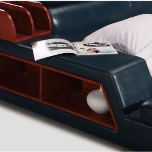 New Style Modern Tatami Leather Bed for Bedroom Use (FB8142) pictures & photos