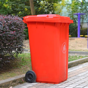 Top Supplier 240 Liter HDPE Durable Plastic Wheelie Bin Trash Can pictures & photos