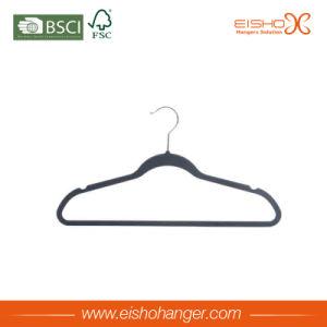 Non-Slip Clothes Garment Hanger Flocked Velvet Hanger for Wholesale pictures & photos