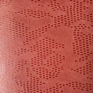 Embossed Oval Shaped Suede Microfiber PU Leather for Shoes Bags (HS-M1701) pictures & photos