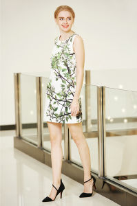 A Line One Piece Placement Printing Shift Dress pictures & photos
