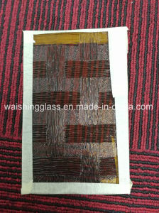 3-5mm Woven Pattern Glass Bronze Figure Glass for Decorative pictures & photos