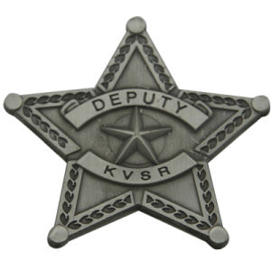 Customise Metal Antique Deputy Private Star Badge (XD-0707-16) pictures & photos