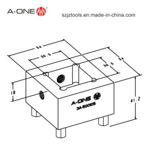 a-One Erowa Compatible Copper Electrode Holder for Holding Electrode (3A-500105) pictures & photos