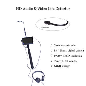 Extendable 5m Telescopic Pole Audio&Video 1080P HD Digital Life Detector pictures & photos