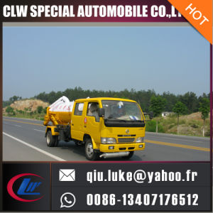 Dongfeng 4X2 Fecal Suction Sewage Truck with Italy Vacuum Pump Small 5000L Sewel Jetting Water Tanker Truck pictures & photos