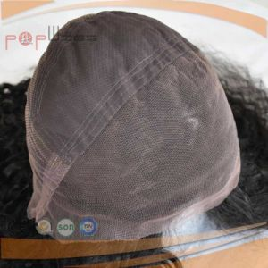 Afro Curly Long Human Virgin Hair Full Lace Front Women Wig pictures & photos