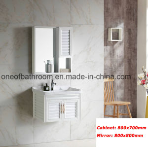White Simple Style Sanitary Wares Cabinet for Bathroom (8500) pictures & photos