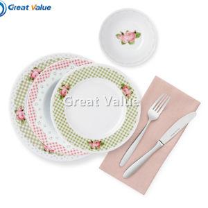 16PCS Classic Rose Round Ceramic Porcelain Dinnerware Set pictures & photos
