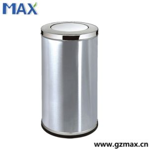 Hot Sale Public Cheap Stainless Steel Swing Lid Indoor Recycle Trash Bin pictures & photos